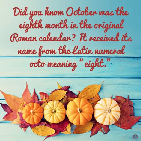 October: The original eighth month
